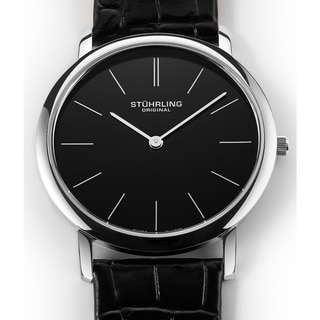 Link to Stuhrling Original Men's Ascot Swiss Watch with Leather Strap Similar Items in Men's Watches