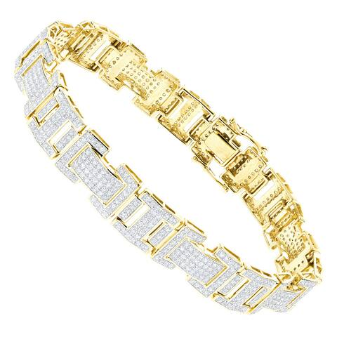 Luxurman 10k Gold 3 1/5ct TDW Diamond Bracelet
