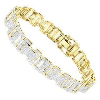 Luxurman 10k Gold 3 1/5ct TDW Diamond Bracelet (H-I, SI1-SI2)