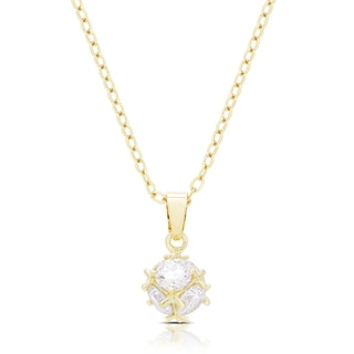 Dolce Giavonna Gold or Silvertone Cubic Zirconia Necklace