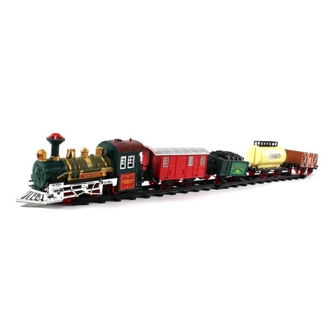 Retro Continental Express 16-piece Battery Operated Toy Train Set - Black