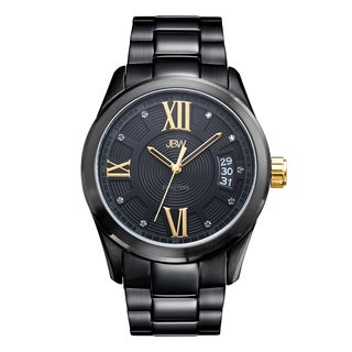JBW Men's Bond J6311E Black Ion-plated Diamond Watch