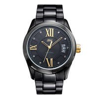 JBW Men's Bond  Black Ion-plated Diamond Watch
