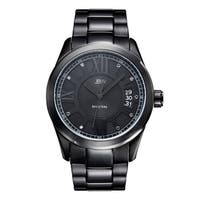 JBW Men's Bond  Black Ion-plated Black Dial Diamond Watch