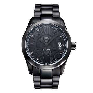 JBW Men's Bond J6311D Black Ion-plated Black Dial Diamond Watch