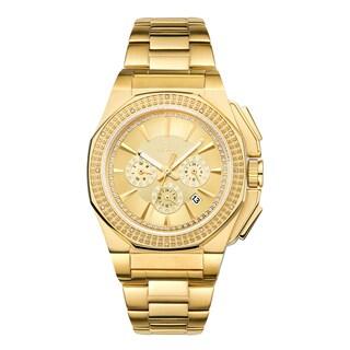 JBW Men's Knox J6329B 18k Goldplated Diamond Watch