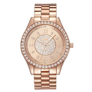 Jbw Women's Mondrian Rose Goldplated Diamond Watch