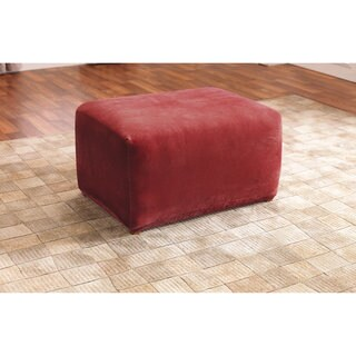Sure Fit Stretch Ottoman Slipcover in Black (As Is Item)