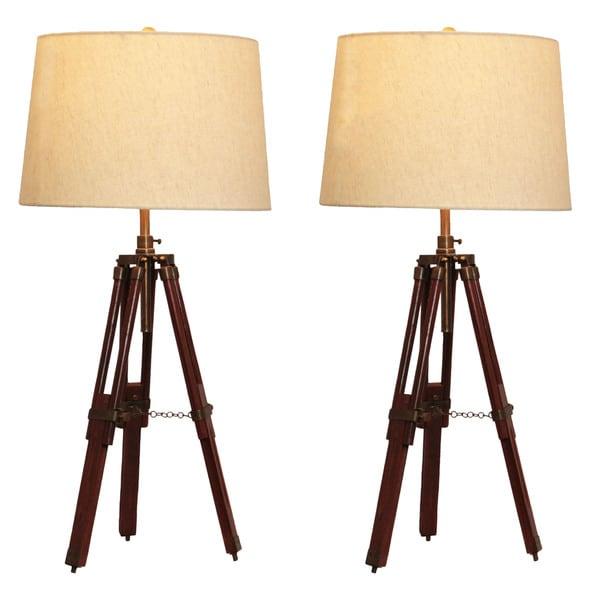 Shop casa cortes surveyor tripod table lamp set of 2 free casa cortes surveyor tripod table lamp set of 2 aloadofball Image collections