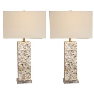 Casa Cortes Mosaic Art Table Lamp - Set of 2