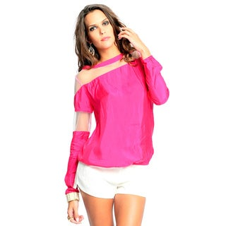 Sara Boo Women's Edgy Long-Sleeve Top