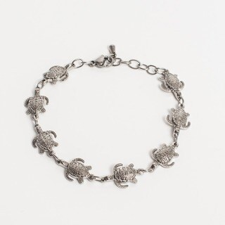 Turtle Magnetic Therapy Bracelet Silver