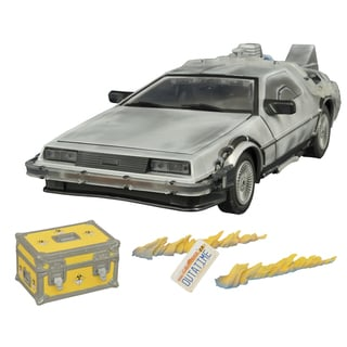 Diamond Select Toys Back To The Future Iced Time Machine Collector Set