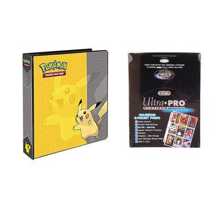 Pokemon Pikachu 2 inches 3-Ring Binder Card Album with 100 Ultra Pro Platinum 9-Pocket Sheets