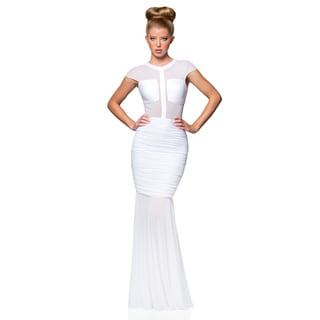 Terani Couture Women's Illusion Top Stretch Gown