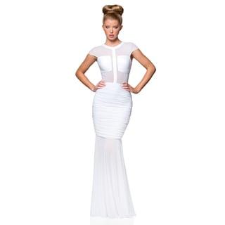 Terani Couture Women's Illusion Top Stretch Prom Dress