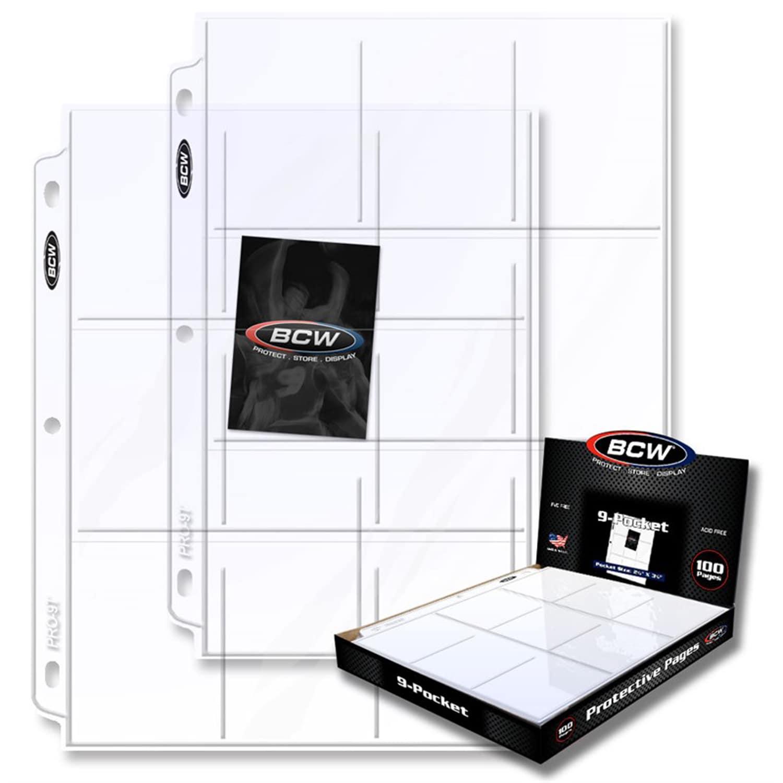 BCW 9-Pocket Plastic Sheets- 100 pack (G722626901362)
