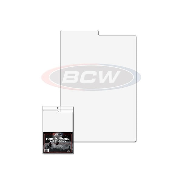 BCW Comic Book Dividers - Pack of 24 + Index Divider
