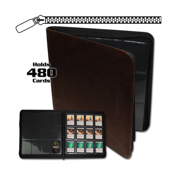 12-Pocket Z-Folio LT Brown