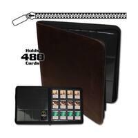 12-Pocket Z-Folio LT Brown
