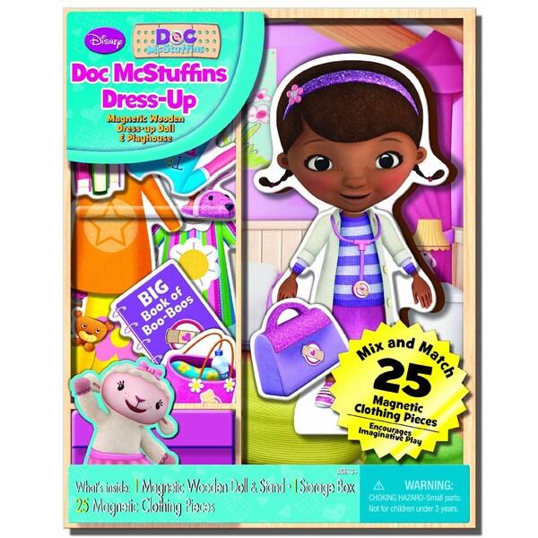 Bendon Disney Doc McStuffins Dress-up Wooden Magnetic Play Set (25pc)