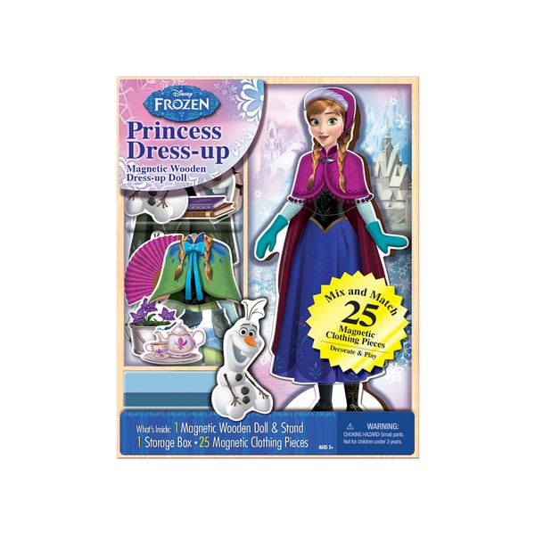 Bendon Disney Frozen Anna Princess Dress-up Wooden Magnetic Play Set (25pc)