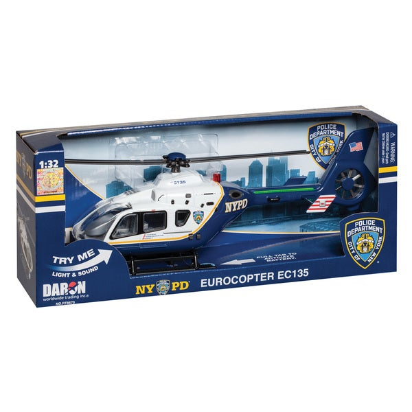 Daron Police Department City of New York Helicopter with Lights & Sound (NYPD)