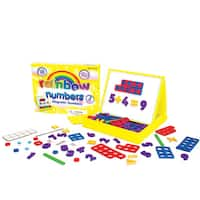 Junior Learning Rainbow Numbers Magnetic Numbers & Built-in Magnetic Board