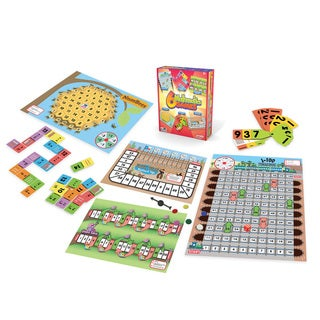 Junior Learning Mathematics Games - Set of 6 Different Math Games