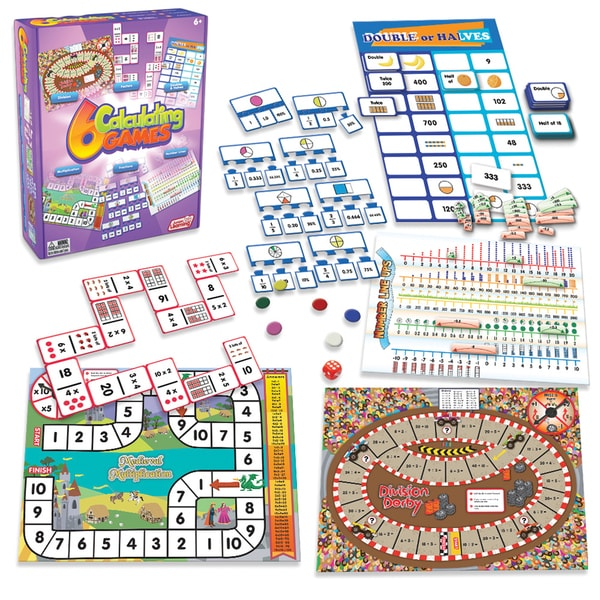 Junior Learning Calculating Games - Set of 6 Different Games
