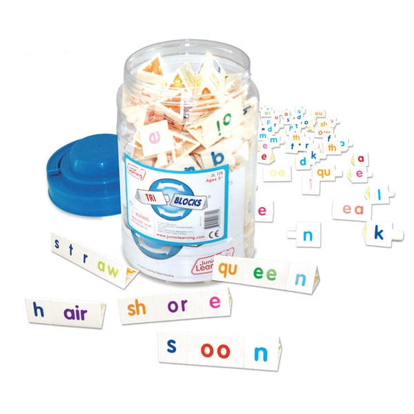 Junior Learning Tri-Blocks Tub Word Building Set