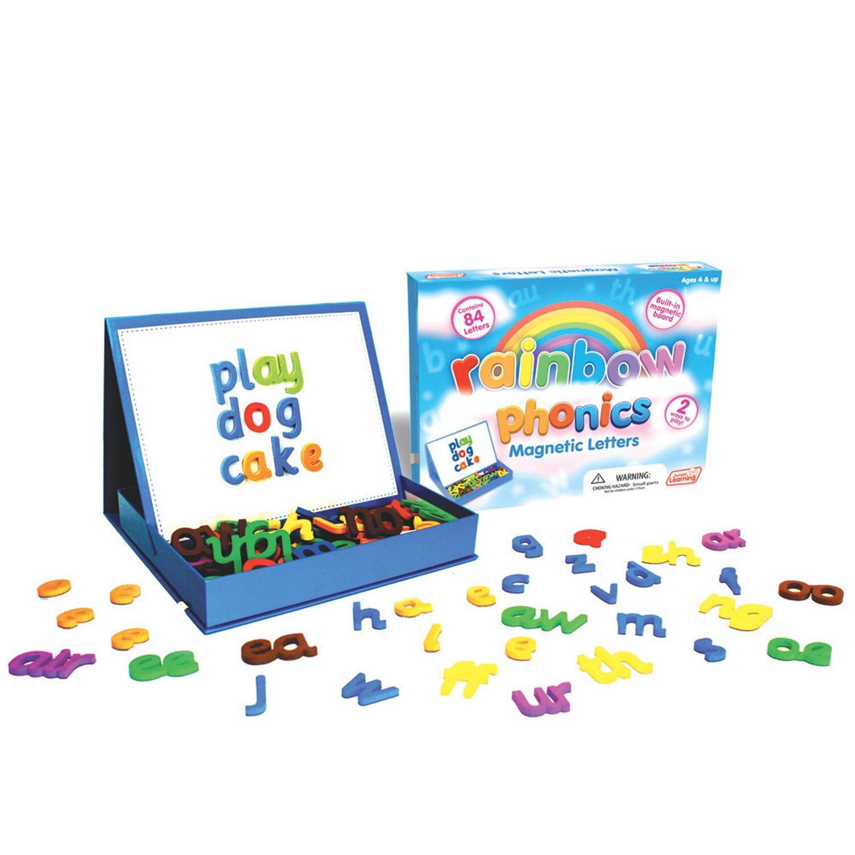 Junior Learning Rainbow Phonics Magnetic Letters & Built-...