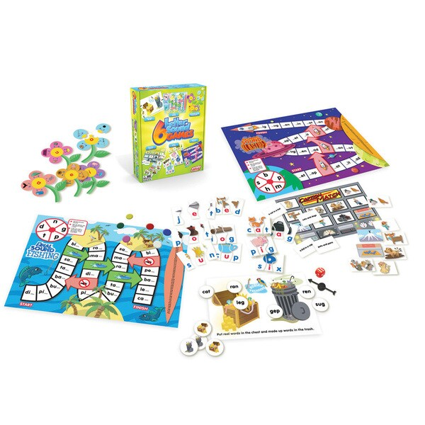 Junior Learning Letter Sound Games - Set of 6 Different Letter Sounds Games