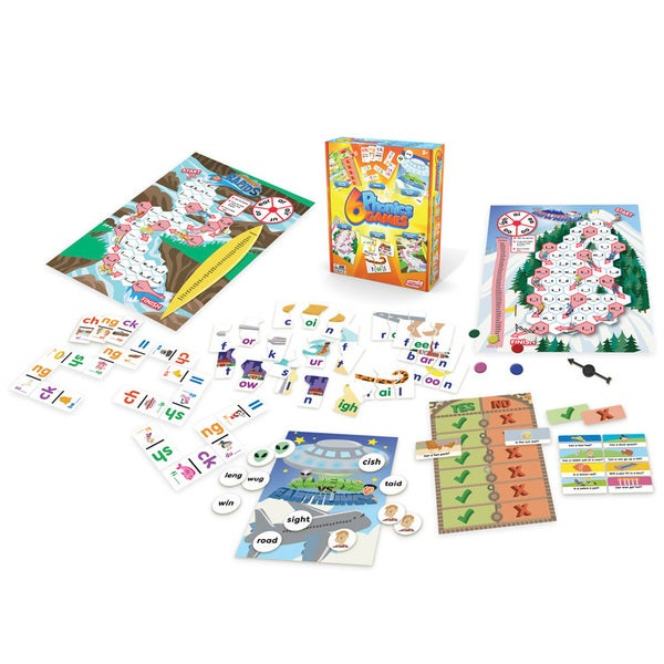 Junior Learning Phonics Games - Set of 6 Different Games