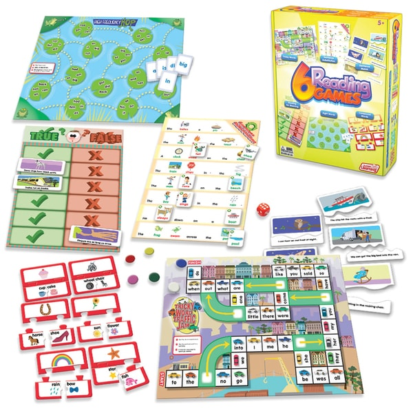 Junior Learning Reading Games - Set of 6 Different Games
