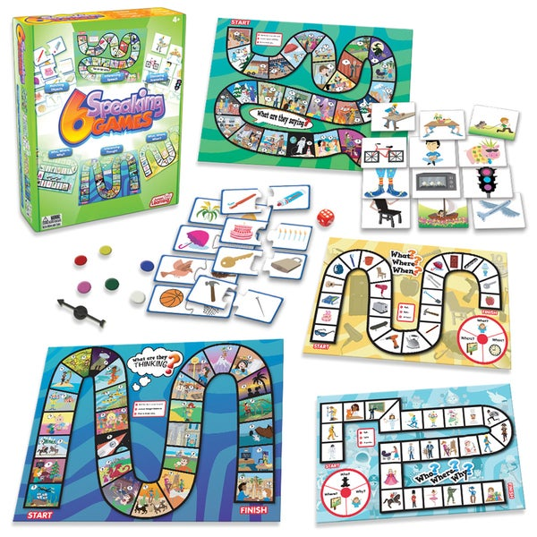 Junior Learning Speaking Games - Set of 6 Different Games