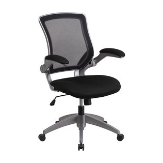 Offex Mid-back Mesh Swivel Task Chair with Grey Frame and Flip-up Arms