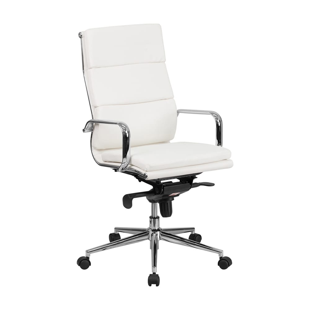 Offex High Back Leather Executive Swivel Office Chair wit...