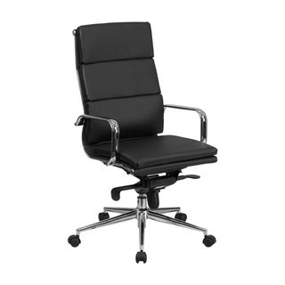 Offex High Back Leather Executive Swivel Office Chair with Synchro-tilt Mechanism