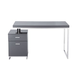 Aurelle Home Stephen Grey High Gloss Desk