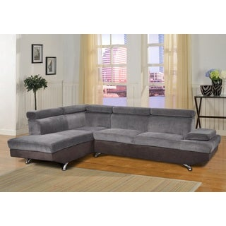 Genoa Left Hand Facing Sectional Grey and Brown