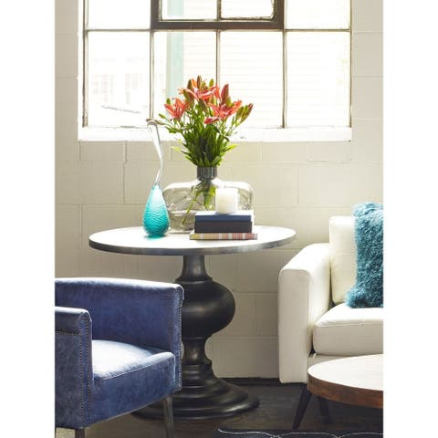 Aurelle Home French Monastery Accent Table - Black