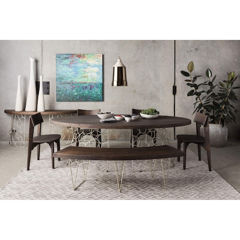 "Aurelle Home Axia Solid Wood Modern Dining Table - Brown - 94"" x 48"" x 30"""