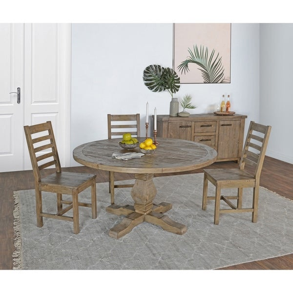 Shop Kasey Reclaimed Wood 55 Inch Round Dining Table By Kosas Home Desert Grey On Sale
