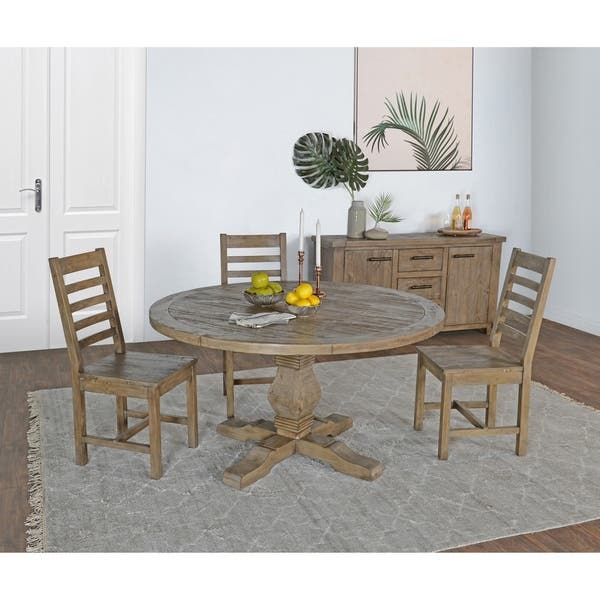 Shop Kasey Reclaimed Pine Round Dining Table by Kosas Home ...