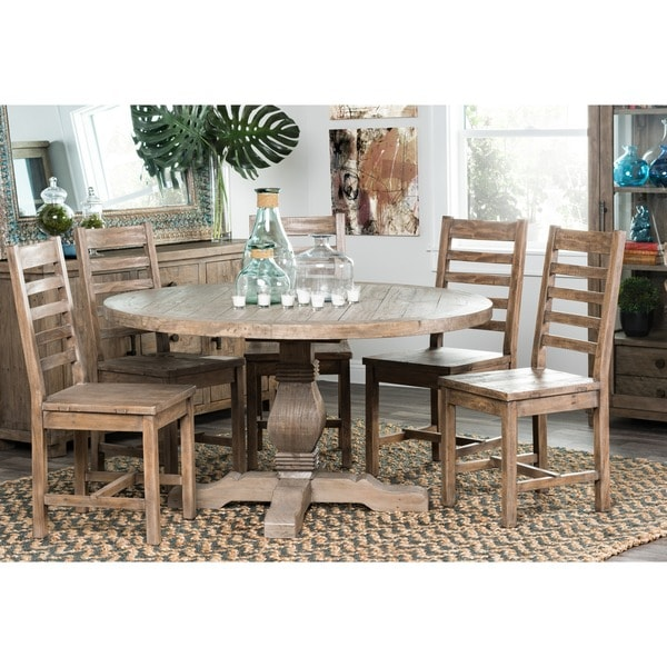 Kasey Reclaimed Wood Natural 55 Inch Round Dining Table By