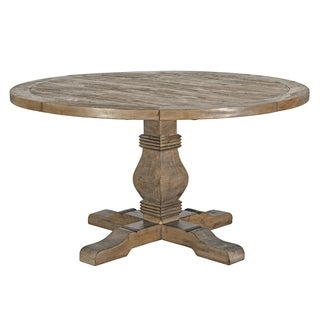 Kasey Reclaimed Wood 55-inch Round Dining Table by Kosas Home - desert grey