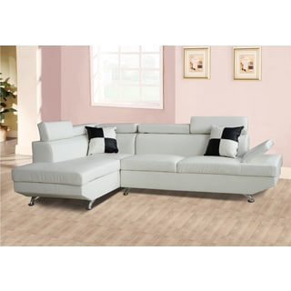 Genoa White Left Hand Facing Sectional