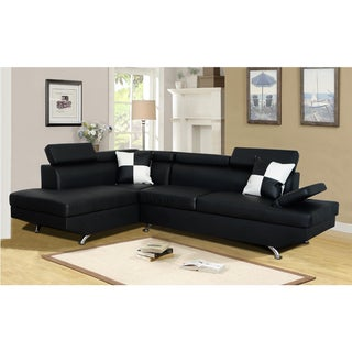 Genoa Left Hand Facing Sectional Black