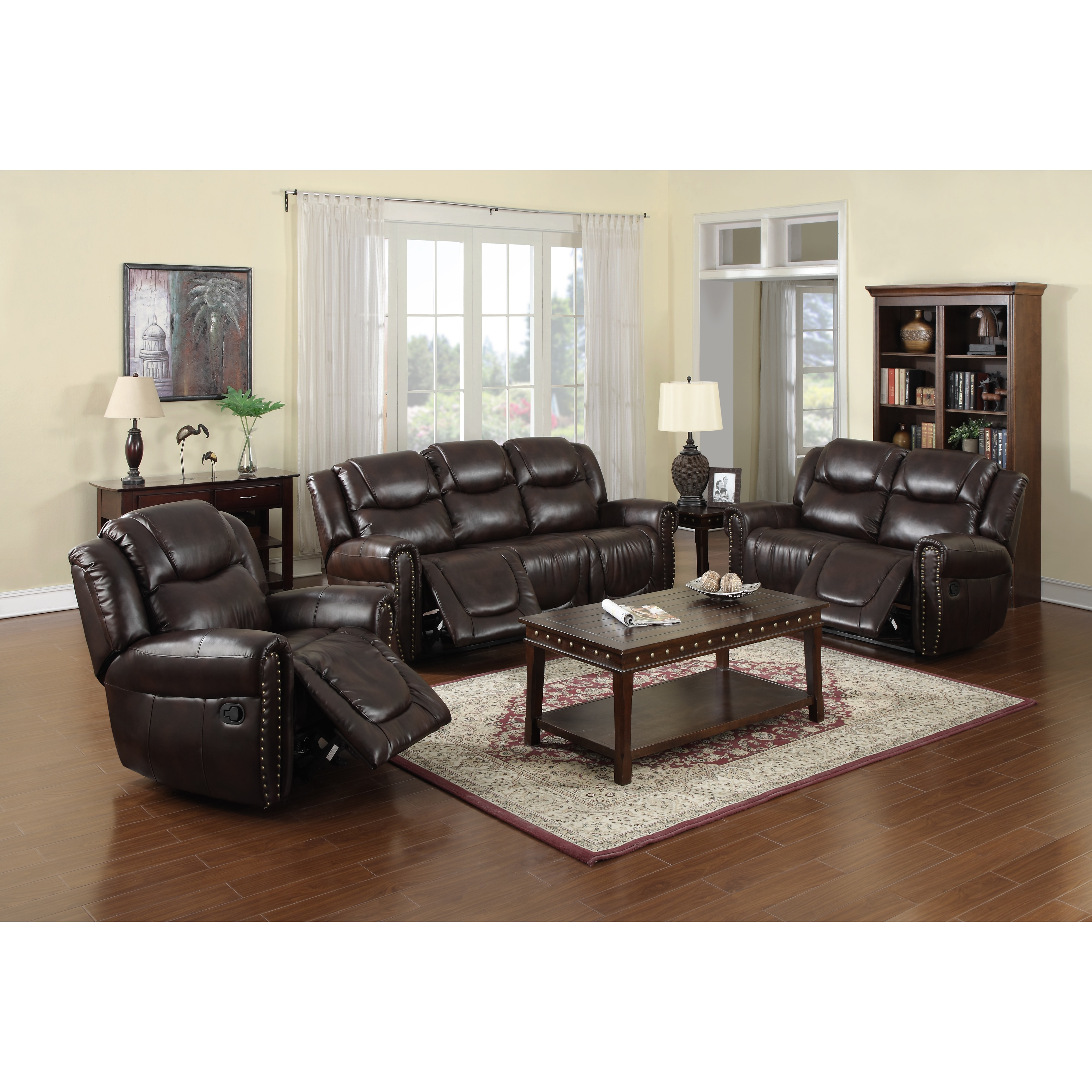 Outstanding Brighton Reclining Sofa Set Brown Gmtry Best Dining Table And Chair Ideas Images Gmtryco